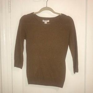 Forever 21 3/4 sleeve crew neck sweater